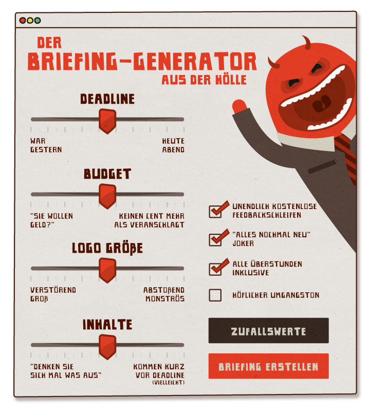 Der Briefing Generator Ausderhoellede